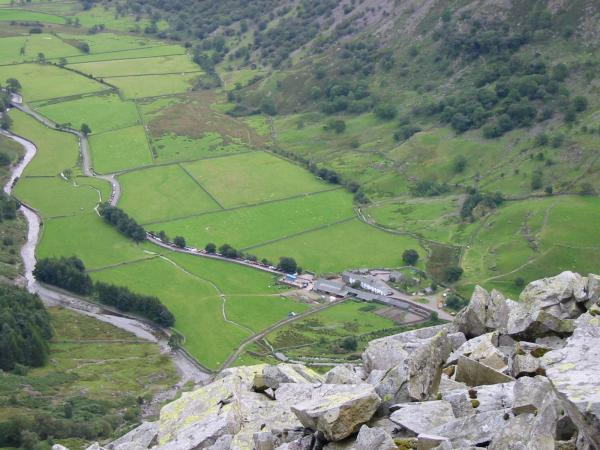 Seathwaite from Base Brown's north ridge