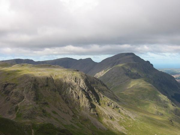 Kirk Fell and Pillar with Red Pike, Scoat Fell and Black Crag beyond