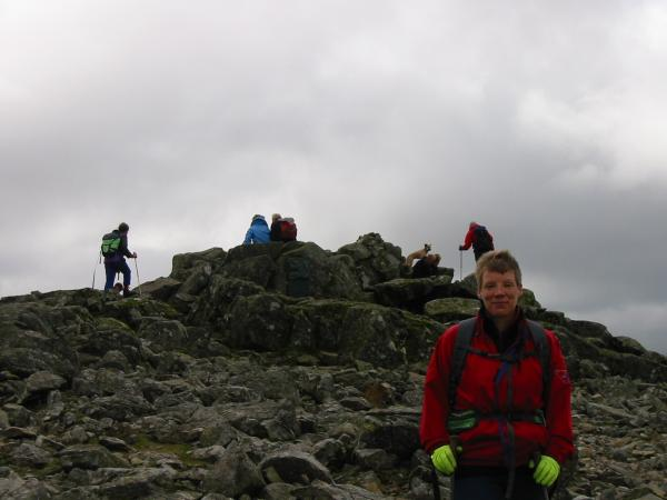 Anne at Great Gable summit