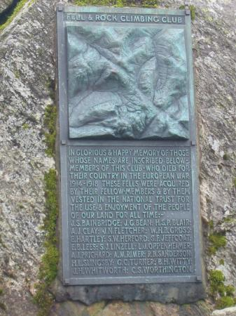 FRCC war memorial on Great Gable's summit