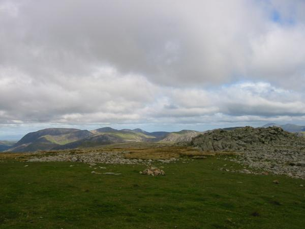 The Grasmoor fells from the ridge between Base Brown and Green Gable