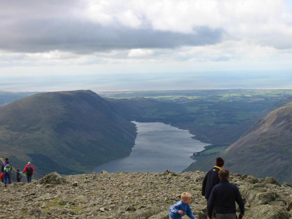 Wasdale from Great Gable summit