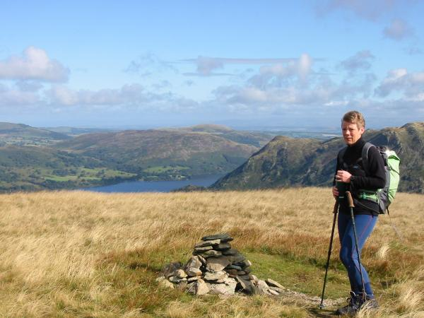 Ullswater and Place Fell from Birks summit