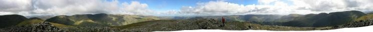360 Panorama from Saint Sunday Crag summit