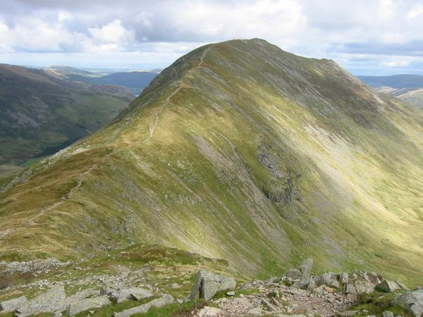 Deepdale Hause and St Sunday Crag from the lower slopes of Cofa Pike