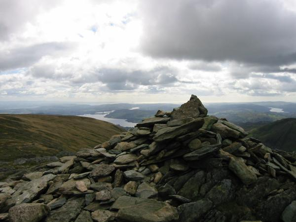 Windermere from Hart Crag's south east summit cairn