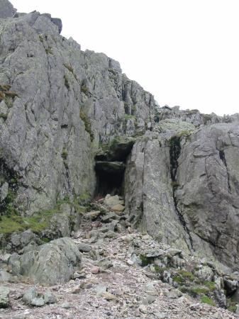 Wainwright's 'Bad Step' on Crinkle #2, Crinkle Crags