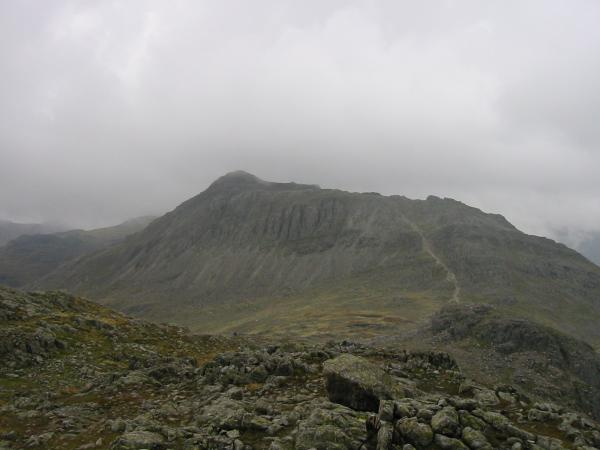 Bowfell from the north end of Crinkle Crags