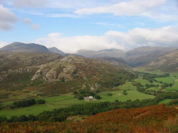 A view of Eskdale on the descent from above Penny Hill