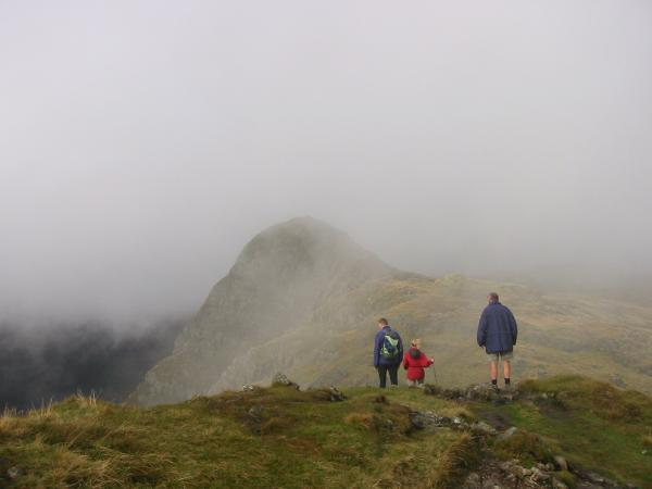 Pike O' Stickle in the cloud from Loft Crag