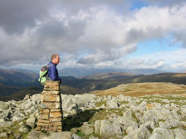 Looking north to Skiddaw from High Raise summit