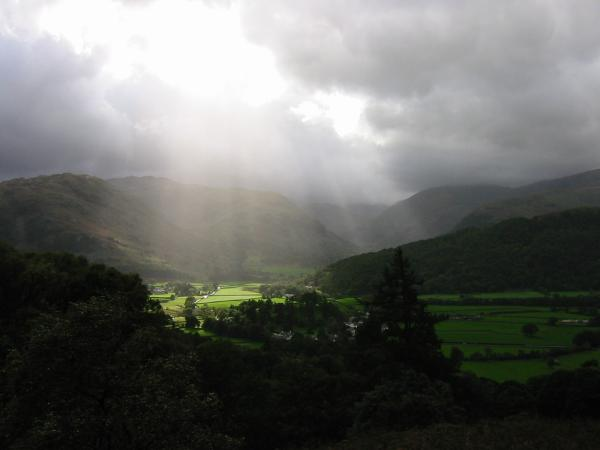 Upper Borrowdale from the slopes of Grange Fell