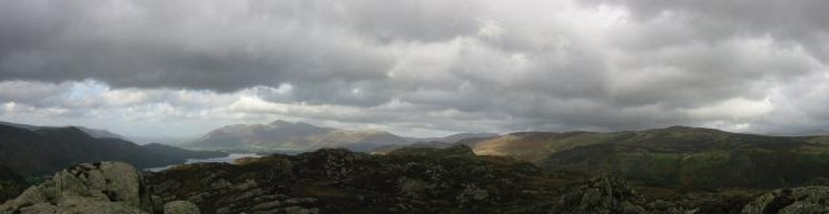 Northern Panorama from Brund Fell summit, Grange Fell