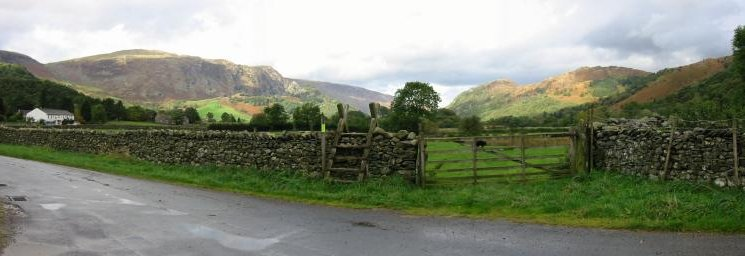High Spy, Castle Crag and Grange Fell from near Stonethwaite
