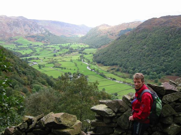 Borrowdale from Big Stanger Gill, Rosthwaite Fell