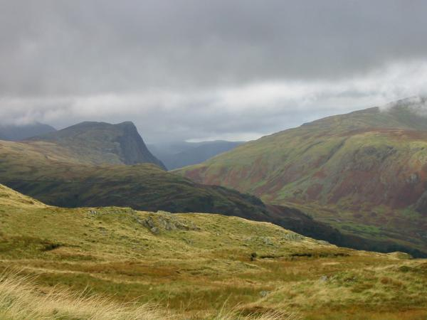 Honister Crag from Rosthwaite Fell