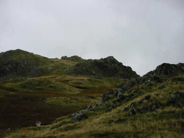 Rosthwaite Fell, Dovenest Crag top from the route up Glaramara