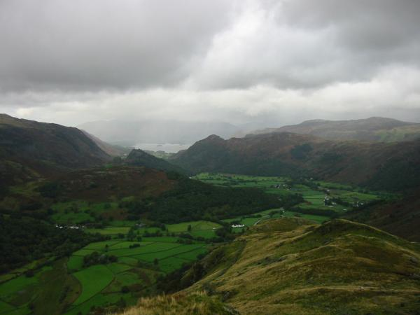 Borrowdale from lower down Thornythwaite Fell
