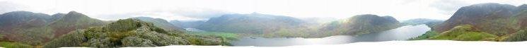360 Panorama from near Rannerdale Knotts summit