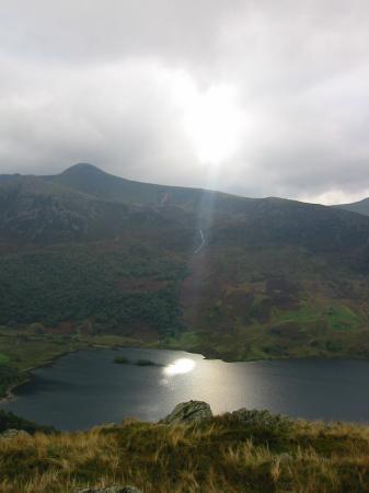 Sun spotlight on Crummock Water