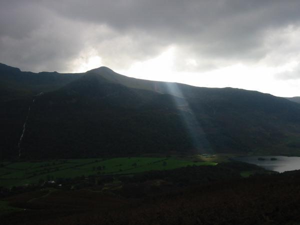 Sun spotlight, Buttermere valley