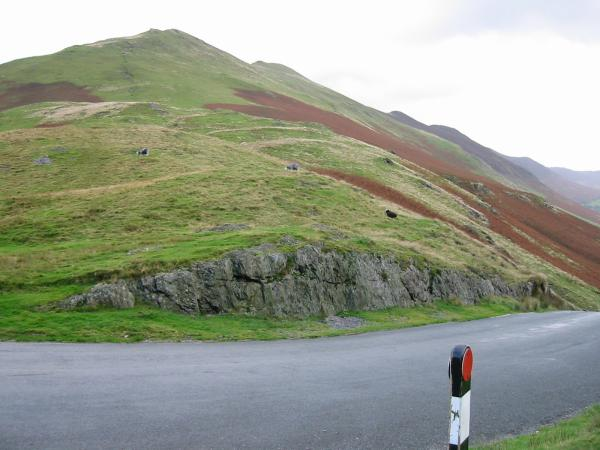 The path up Knott Rigg from Newlands Hause
