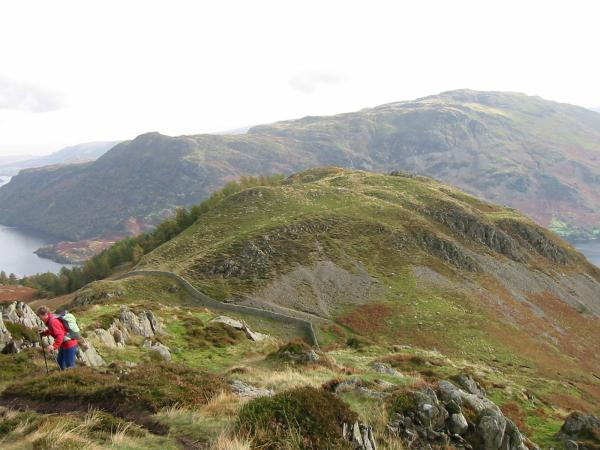 Looking back to Glenridding Dodd as we ascend Sheffield Pike's east ridge