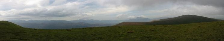 North west panorama from Stybarrow Dodd summit
