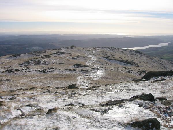 Looking back down Lad Stones ridge, Wetherlam