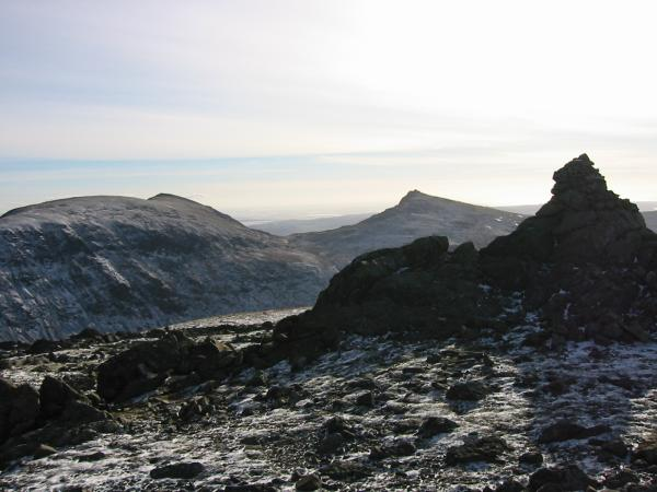 Brim Fell, Coniston Old Man and Dow Crag from Grey Friar summit