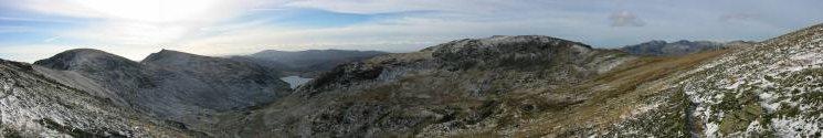 Westerly panorama from the traverse below Swirl How summit