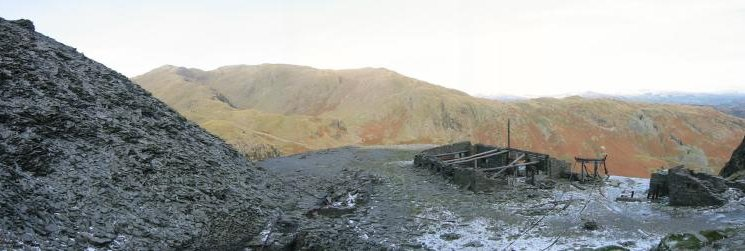 Wetherlam from the mine working, Coniston Old Man
