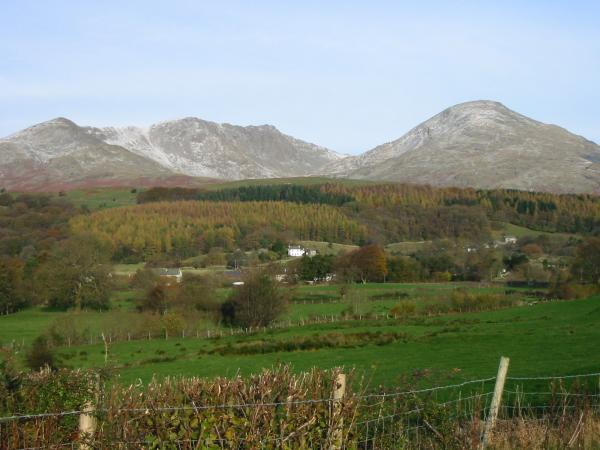 Dow Crag and Coniston Old Man from Torver