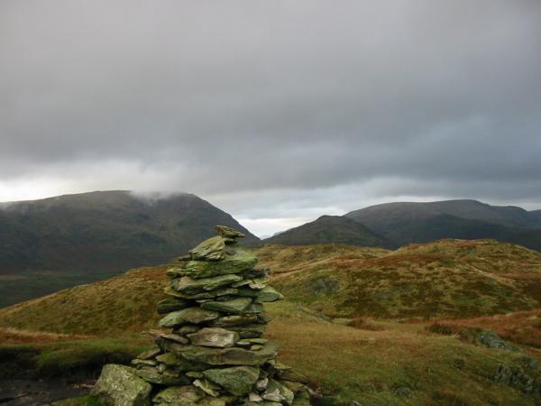 Red Screes and Caudale Moor from Wansfell summit (also known as Baystones)