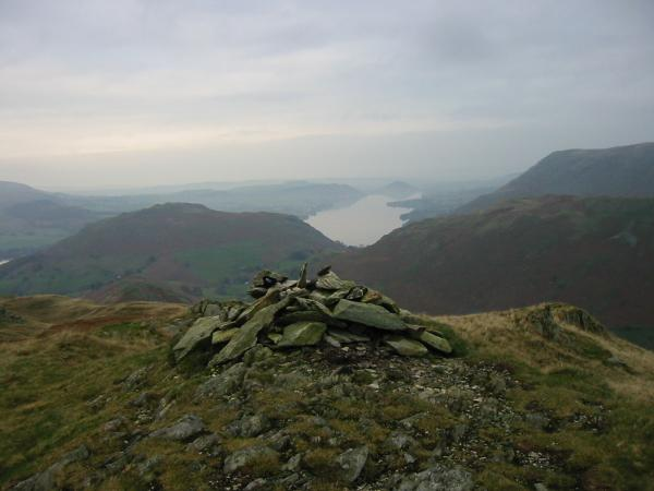 Looking north to Hallin Fell and Ullswater from Beda Head, Beda Fell's summit