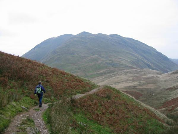 Descending to Boredale Hause with Place Fell ahead