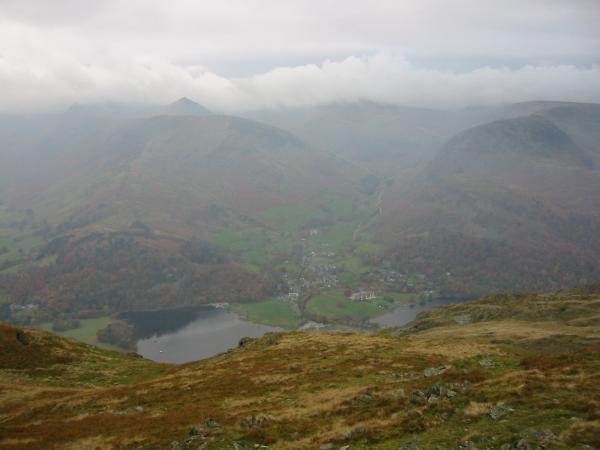 Glenridding and Ullswater from Place Fell summit
