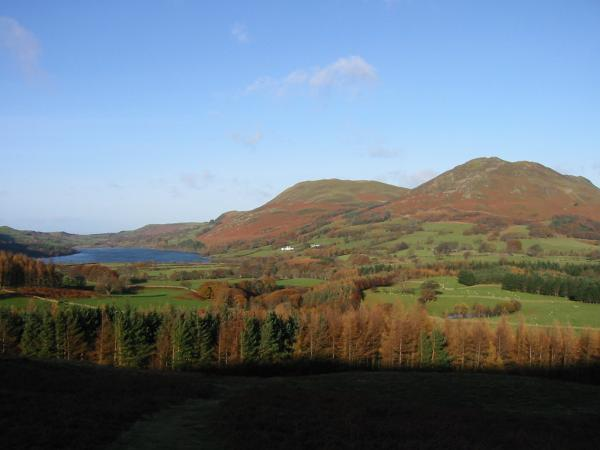 Loweswater, Darling Fell and Low Fell from the lower slopes of Mellbreak