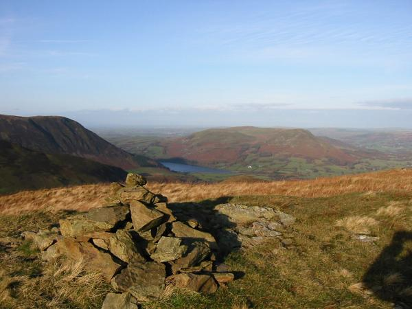 Looking north to Loweswater from Hen Comb summit
