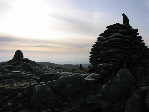 Ill Bell's three summit cairns
