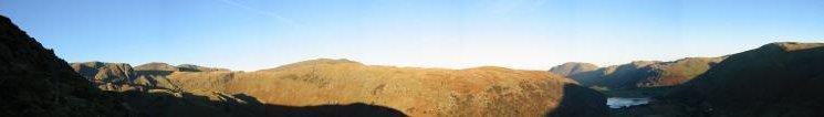Panorama from high up the north ridge of High Hartsop Dodd