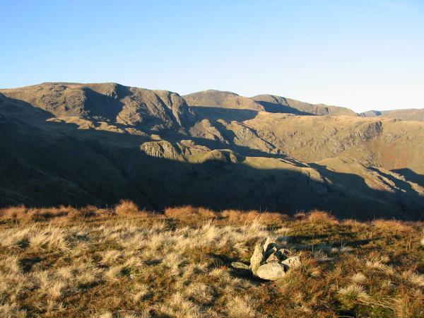 Dove Crag, Hart Crag and Fairfield from High Hartsop Dodd summit