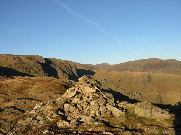 Dove Crag, Helvellyn and Saint Sunday Crag from Little Hart Crag's south western summit