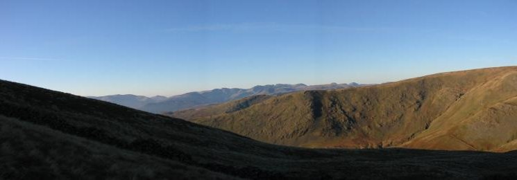 Westerly panorama from the climb up Red Screes from Scandale Pass
