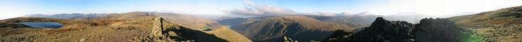 360 Panorama from Red Screes' summit