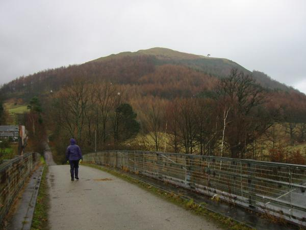 Latrigg from Spoony Green Lane as it crosses the A66