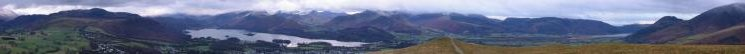 Panorama from Latrigg summit