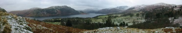 The southern end of Ullswater from the climb up Green Hill