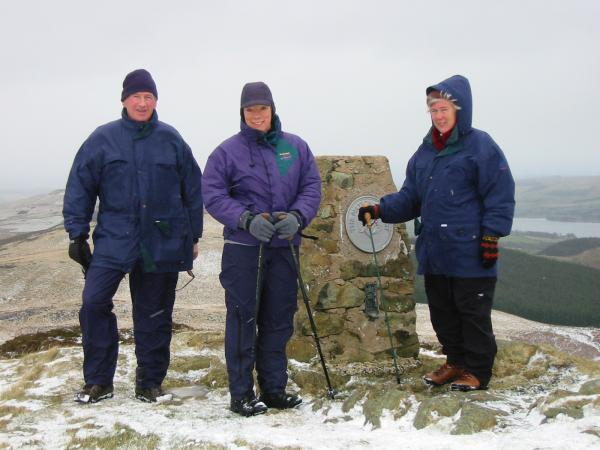 Dad, Anne and Mum at Gowbarrow Fell summit