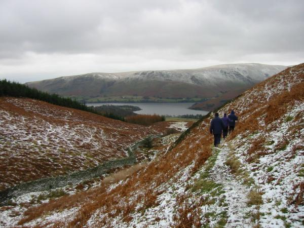 Heading towards Ullswater from the summit